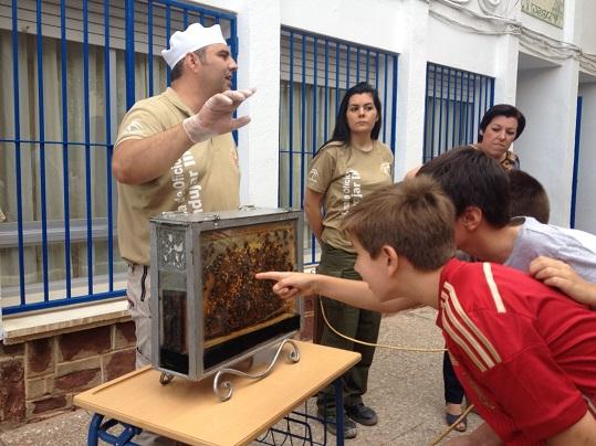 Los niños de Andújar conocen la cultura de la miel.