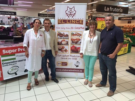 Los diputados María Angustias Velasco y Francisco Huertas, junto con responsables de la empresa.