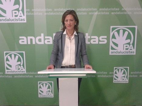La portavoz andalucista, Encarna Camacho.