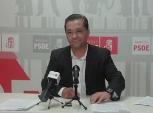 El portavoz municipal del PSOE de Andújar, Paco Huertas.