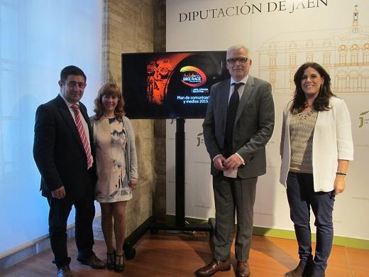 Francisco Reyes, Antonia Olivares, Xavier Bartroli y Ángeles Férriz, en la presentación de la V Andalucía Bike Race.