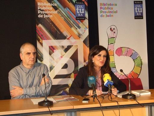 Rueda de prensa impartida por Yolanda Caballero con motivo del 40 aniversario de la Biblioteca Provincial de Jaén.