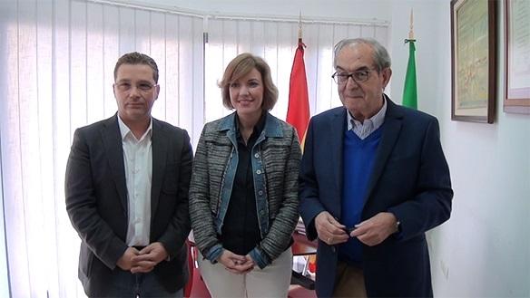 Francisco Huertas, María Angustias Velasco y Eduardo Criado.