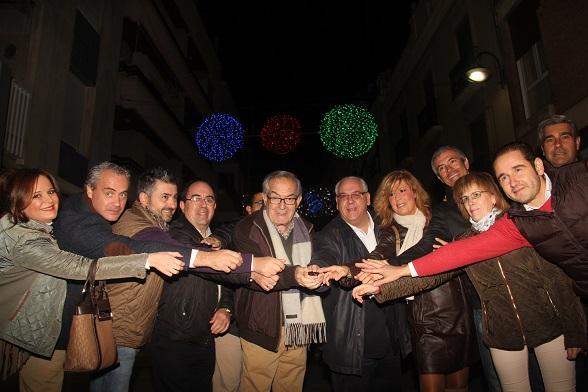 Acto del encendido del alumbrado de Navidad en Andújar.