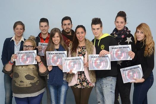 Jóvenes de Andújar que han realizado el Taller de Video Creativo.