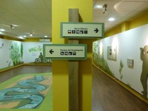 Una de las salas de este centro de visitantes.