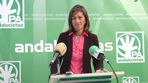 La Candidata Andalucista a la Alcaldía de Andújar, Encarna Camacho.