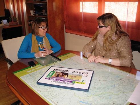 Reunión mantenida entre Purificación Gálvez y Rosario Sedano.