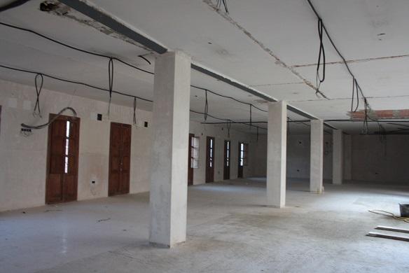 Nuevo aspecto que presenta el interior de la Casa de la Cultura, de Andújar.
