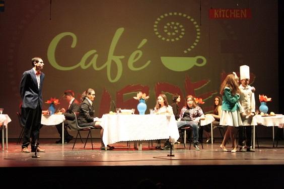 Un momento de la representación teatral en Andújar.