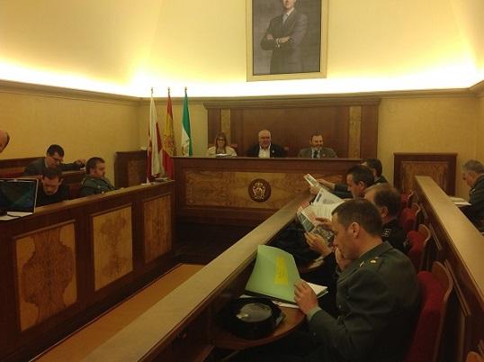 Reunión de la junta local de seguridad de Andújar.