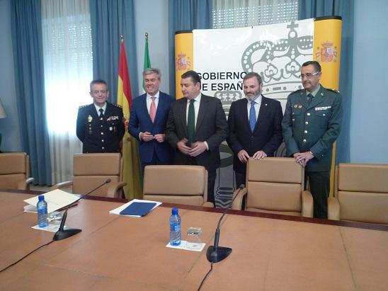 Acto de presentación de la evolución delincuencial del primer trimestre del año 2015 en Andalucía.