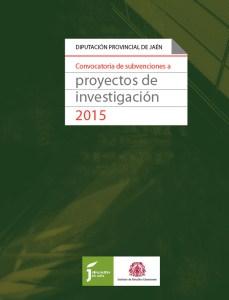 Portada del folleto subvenciones de proyectos de investigación del IEG para 2015.