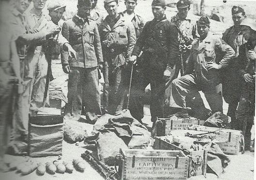 Armamento incautado a los guardias civiles el 1 de mayo de 1937.