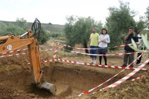 Excavación fosa común en Lopera.