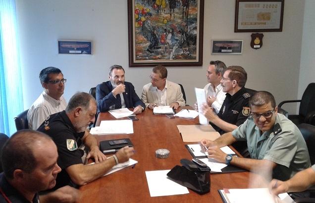 Reunión de la Junta Local de Seguridad Ciudadana de Andújar.