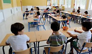 Niños aprenden en la escuela. Foto: Junta de Andalucía.