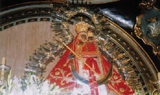 Imagen de la Virgen de la Cabeza.