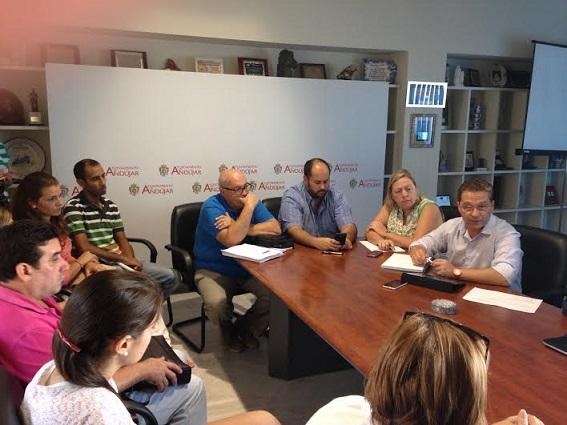 Reunión en la que han estado presentes colectivos y organizaciones no gubernamentales de carácter social de la ciudad de Andújar.