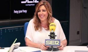 Susana Díaz, en un momento de la entrevista.