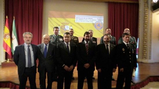 Acto de entrega de las medallas de la Orden del Mérito Civil y al Mérito de la Protección Civil.