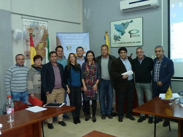 Componentes de la nueva Junta Directiva en la ADR Campiña Norte de Jaén.