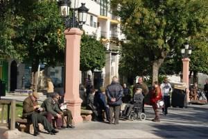 Plaza de la Constitución, en Andújar.