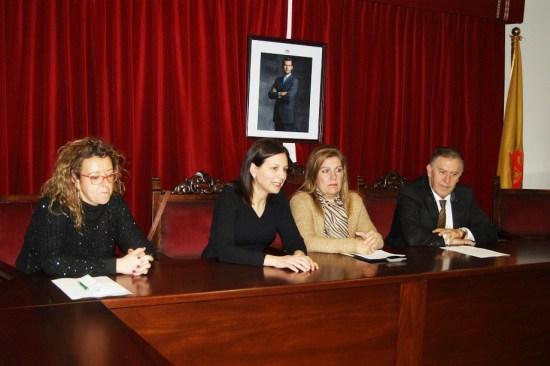 Carmen Torres, Isabel Uceda, Juana Martínez y Alfonso Nieves.
