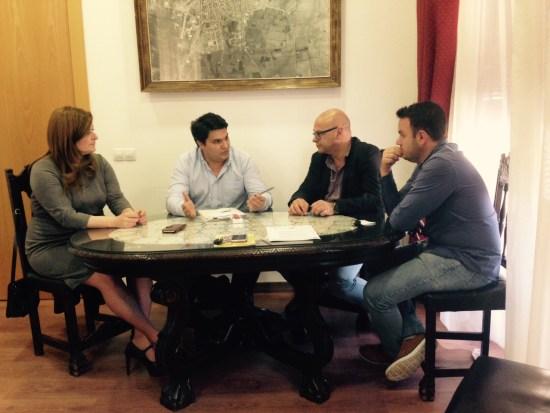 Reunión mantenida ayer en el Ayuntamiento de Marmolejo.