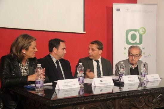 Acto de inauguración de estas jornadas que tuvieron lugar en Andújar.