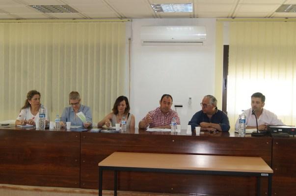 Maria del Mar Cantero, Nazaria Ortega, Maribel Lozano, Agustín Moral, Jesús Estrella y Alfonso Martínez.