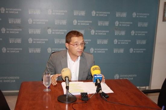 El alcalde de Andújar, Paco Huertas.