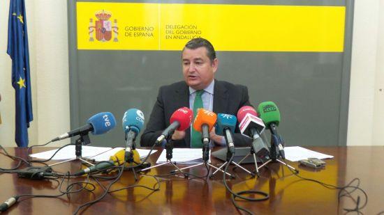 El delegado del Gobierno en Andalucía, Antonio Sanz.