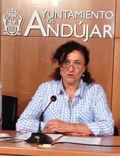 La concejal de Cultura del Ayuntamiento de Andújar, María José Bueno.