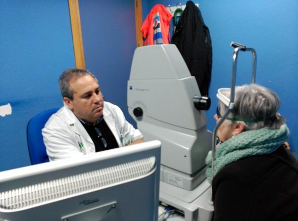 Una imagen de una retinografía.