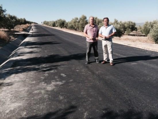 José Castro ha visitado la carretera de acceso a Lahiguera.