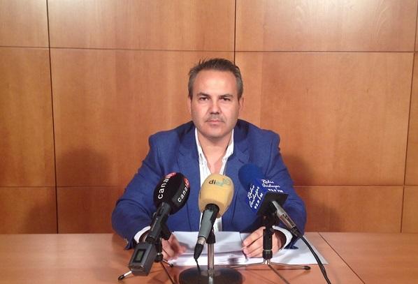 El concejal de Turismo, Jesús del Moral, en rueda de prensa.