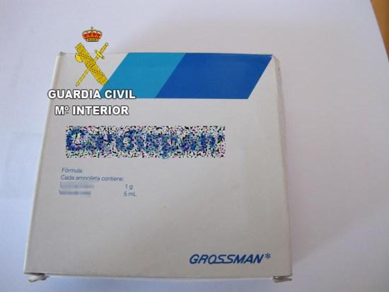 Imagen de uno de los medicamentos intervenidos. Foto: Guardia Civil.