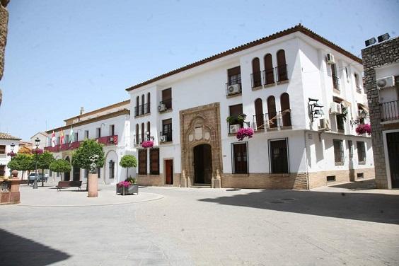 Plaza de Santa María, en Andújar.