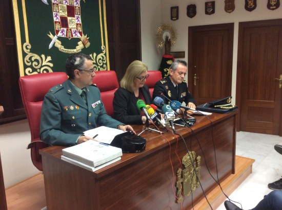 La Guardia Civil de Jaén explicó en rueda de prensa esta operación.