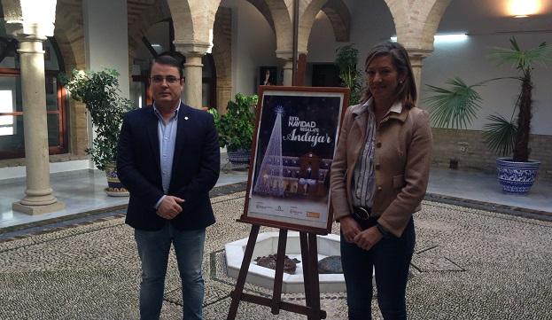 Pedro Luis Rodríguez y Encarna Camacho presentan la programación de Navidad de Andújar.