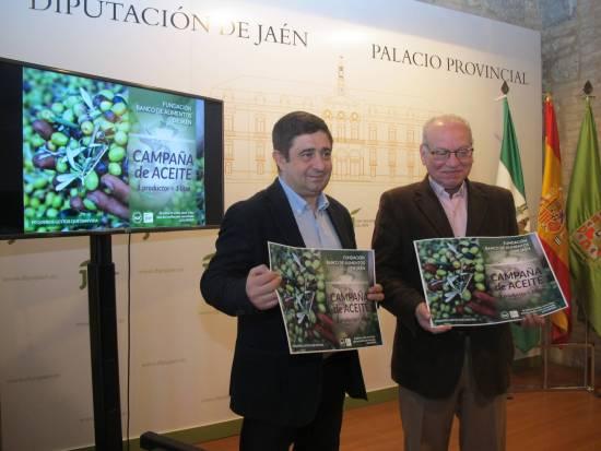 Francisco Reyes y Francisco Luque, con el cartel anunciador de esta campaña.