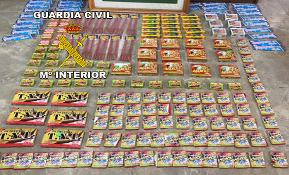 Material incautado por las fuerzas del orden. Foto: Guardia Civil.