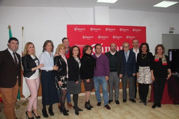 Autoridades asistentes a la presentación de Andújar Flamenca  2017.