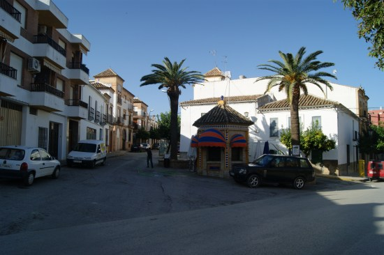 Una céntrica calle de Arjonilla.
