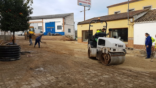 Actuales obras en la Ronda Mestanza de Andújar.
