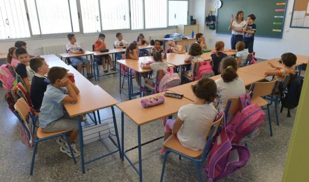 Escolares en un colegio de Andalucía