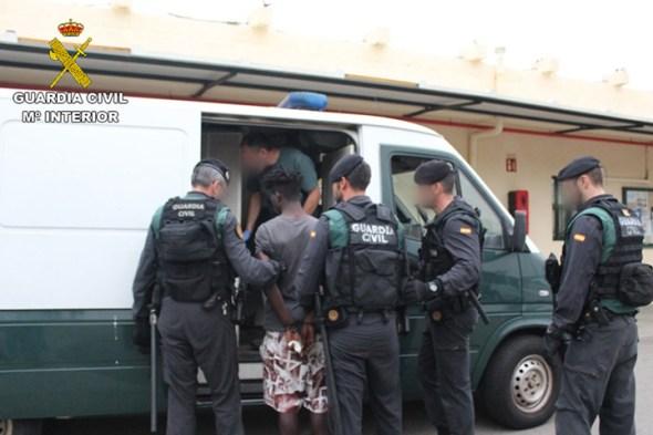 agesión a Guardias Civiles en Ceuta