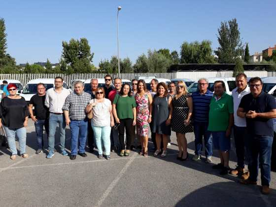 entrega de vehículos a municipios de Jaén