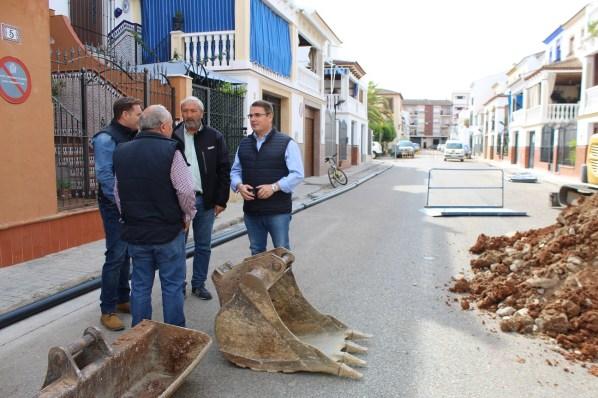 Obras en calles de Andújar